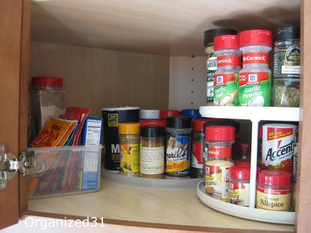 Spice Cabinet Organization Ideas