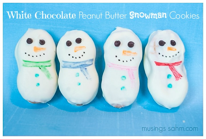 Peanut butter snowman cookies and peppermint rice krispie ball cookies