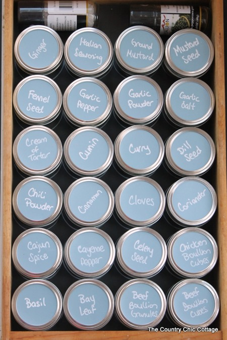 Home Organizing Ideas - Spice Cabinet