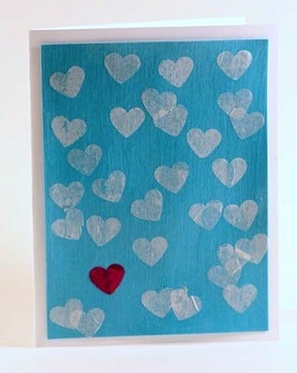 16 - Simple Heart Valentine Card