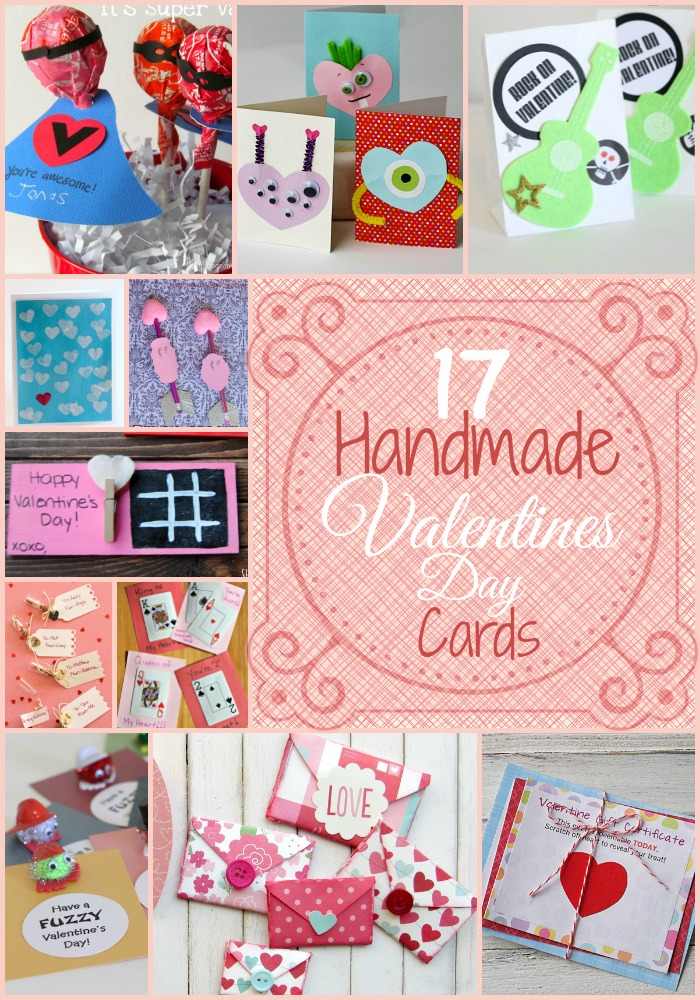 17 Handmade Valentines Day Cards - these are great for crafting with kids or making handmade cards for the class!