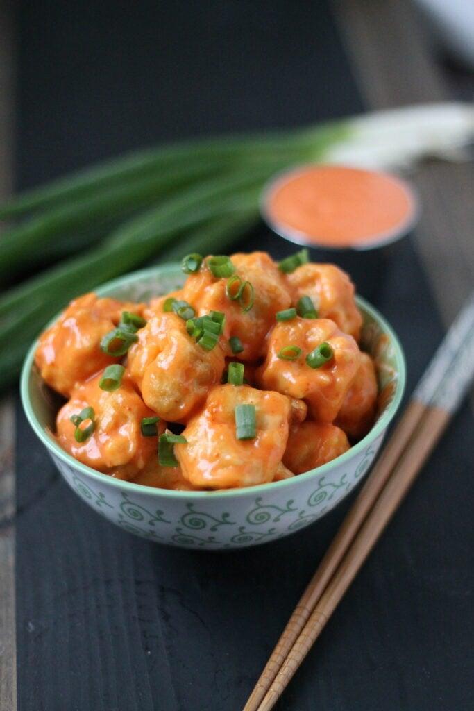 Copycat Bang Bang Tofu is a delicious vegetarian version of Bonefish Grill's Bang Bang Shrimp!