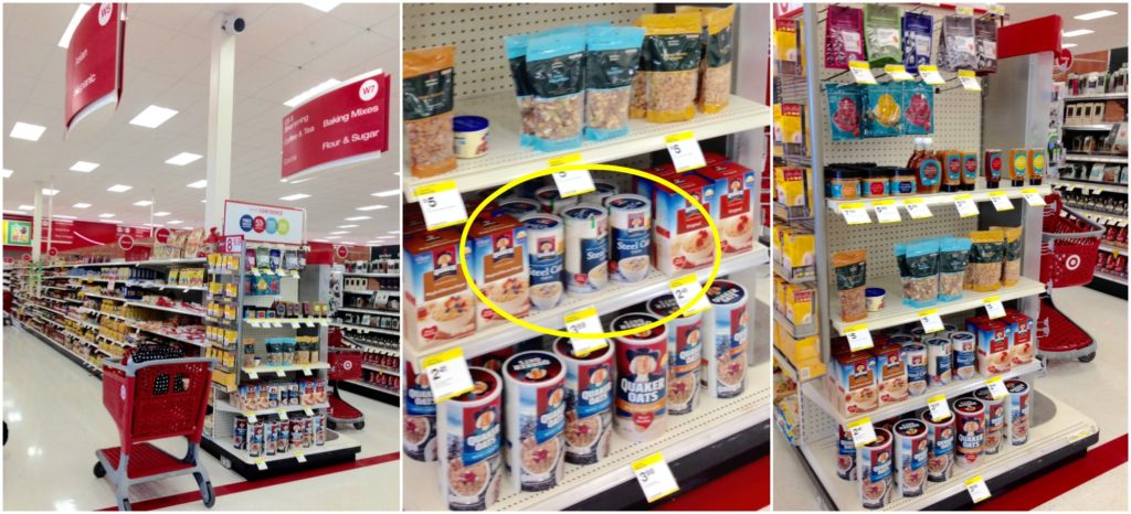In Target there was even a display featuring Quaker Steel Cut Oats ...