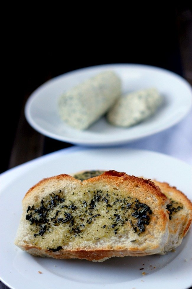 Easy Leftover Herb Butter - this is such a great way to save left over herbs without having to waste them!