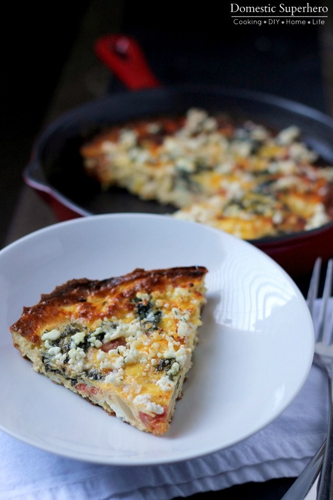 Roasted Vegetable Frittata is the perfect weeknight meal to clean out ...