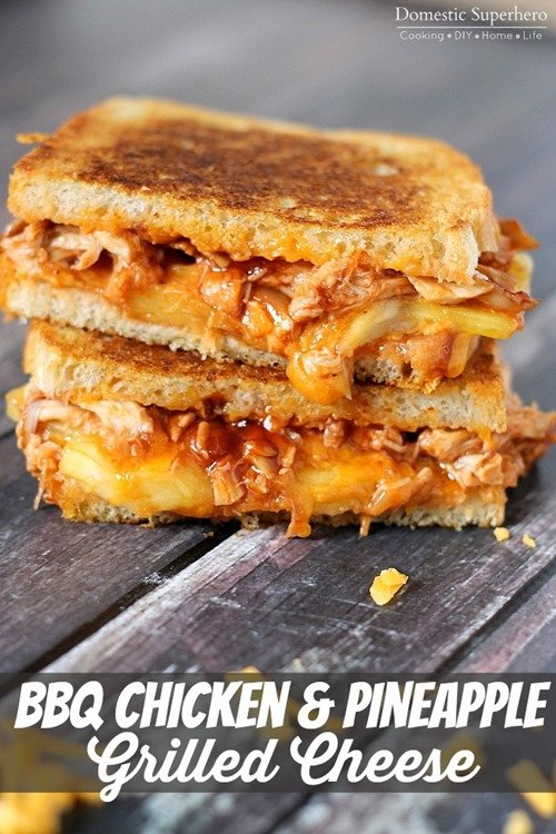 BBQ Chicken and Pineapple Grilled Cheese 1