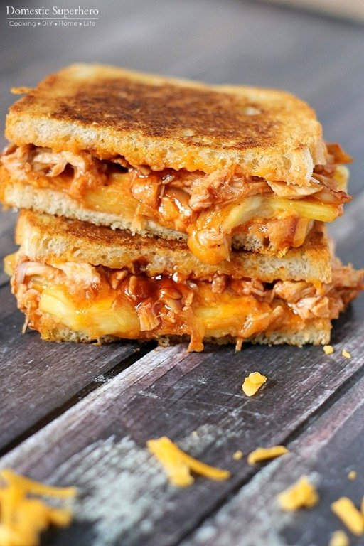 BBQ Chicken & Pineapple Grilled Cheese is the perfect ooey-gooey ...