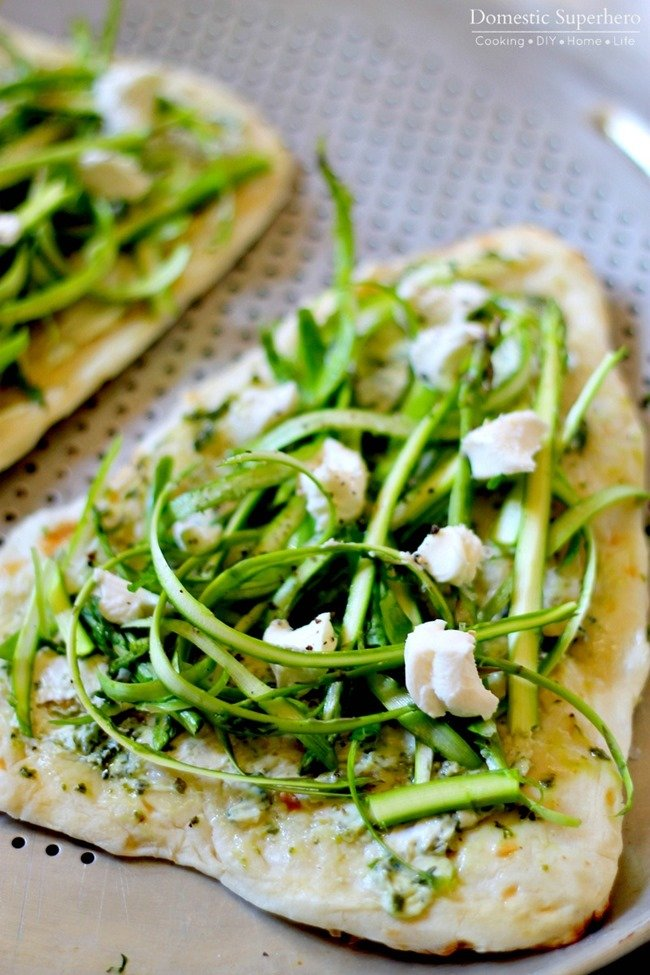Herbed Asparagus & Goat Cheese Flatbreads 2
