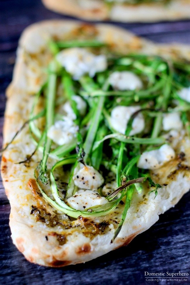 Herbed Asparagus & Goat Cheese Flatbreads 3