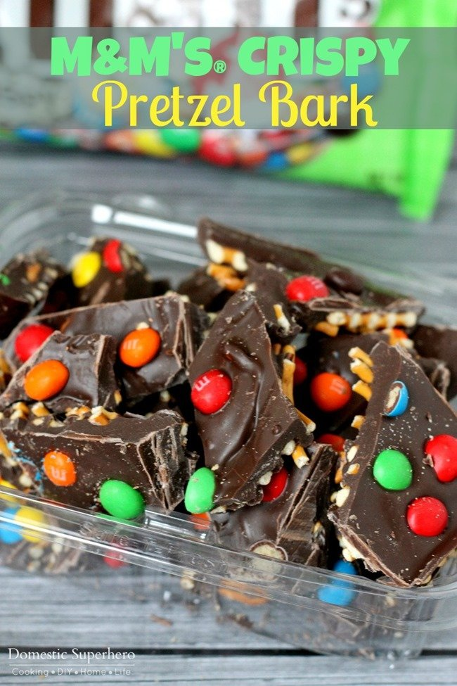 M&M's® Crispy Pretzel Bark - Delicious milk chocolate mixed with salty pretzels and M&M's® Crispy snacks - easy and delicious!