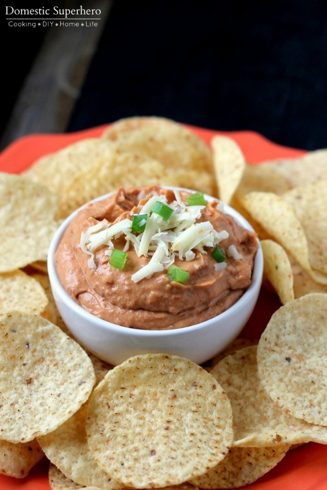 The Best Ever Party Dip–Creamy Chipotle Bean Dip