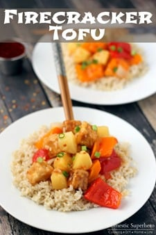 Firecracker Tofu with Brown Rice