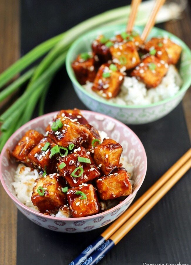 Crispy Honey Sesame Tofu