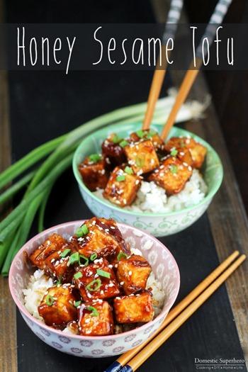 Honey Sesame Tofu 3