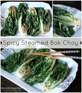 Spicy Steamed Bok Choy 01