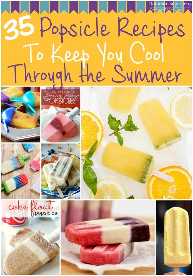 With summer upon us, keep cool with over 35 Summer Popsicle recipes! The kids will love helping and eating all these popsicles this summer!