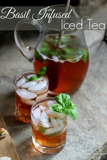 Basil Infused Iced Tea