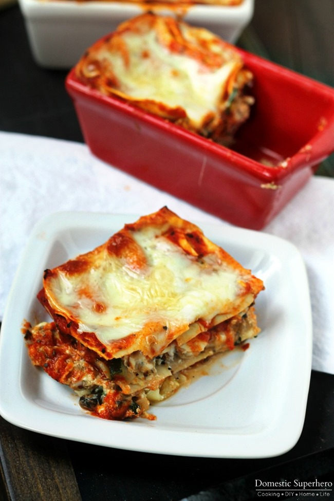 The BEST EVER Vegetable Lasagna is the perfect go-to dish for any occasion! So easy, takes barely any time, and everyone will LOVE it!