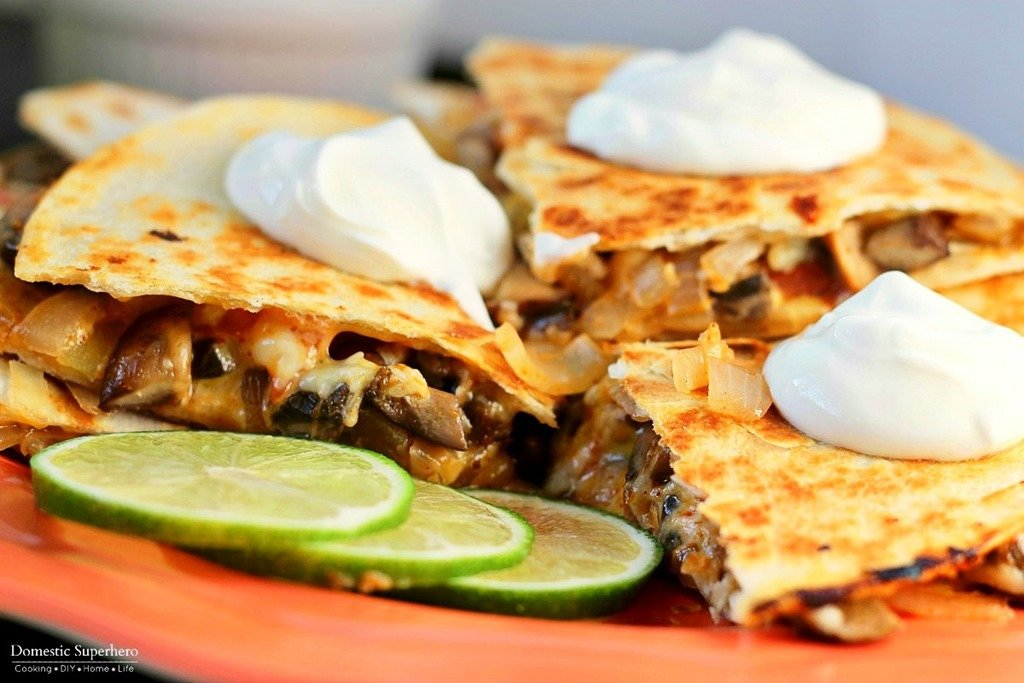 Veggie Fajita Quesadillas Domestic Superhero