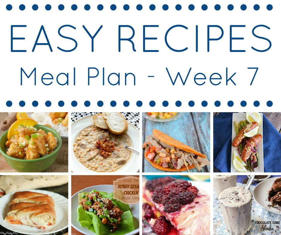 There is some major cooking inspiration here! A recipe for every night, and then also a delicious dessert at the end! Get your pen and paper, and make a list of what you will be cooking this week!