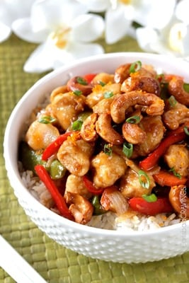Sweet & Spicy Cashew Ginger Chicken Stir Fry