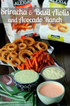Dip Trio Sriracha & Basil Aiolis and Avocado Ranch Dips