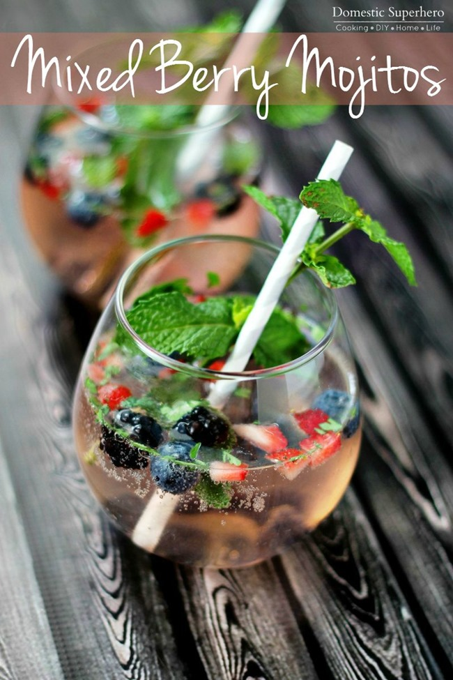 This Mixed Berry Mojito is the definition of summer! Perfectly refreshing and amazingly delicious - your friends will swoon over this cocktail!