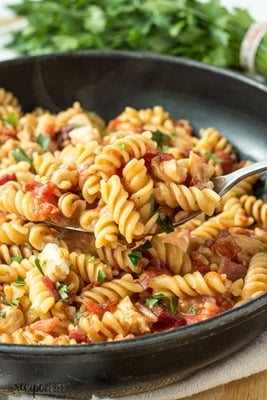 One Pot BBQ Chicken & Bacon Pasta