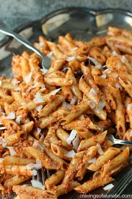 Penne with Sun Dried Tomato Pesto