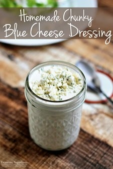 The Best Ever Homemade Chunky Blue Cheese Dressing (2)