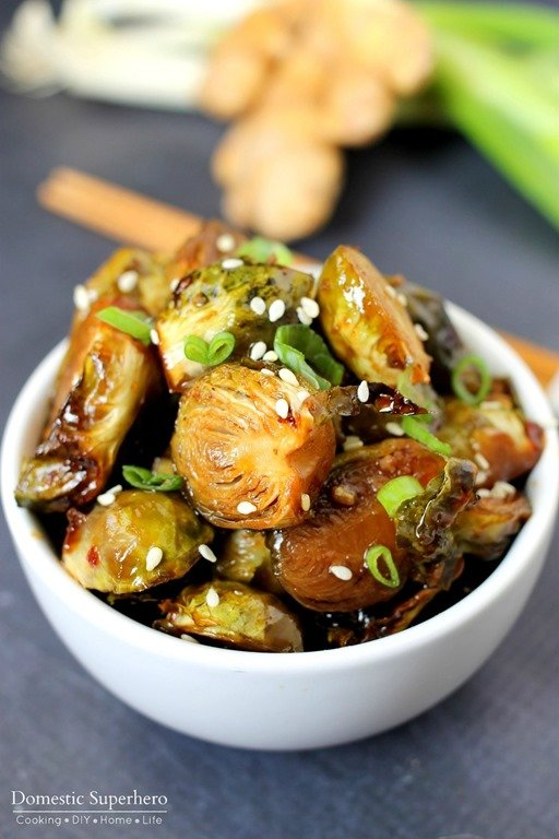 Asian Glazed Brussels Sprouts
