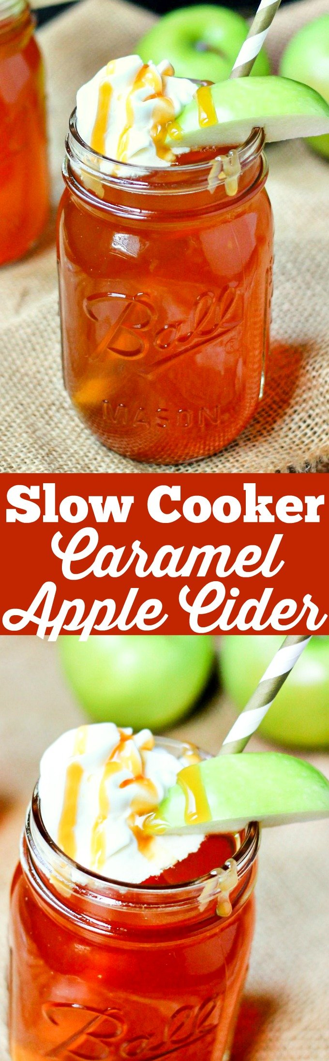 Set it and forget it! This Crock Pot Caramel Apple Cider has only 3 ingredients, will leave your house smelling amazing, and warms your soul. Perfect for fall!