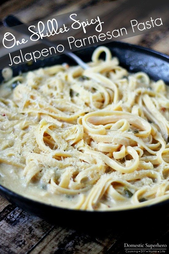 One Skillet Spicy Jalapeno Parmesan Pasta final