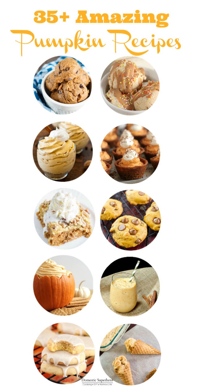 35+ Amazing Pumpkin Recipes - everything from ice cream to pasta sauce - yum!