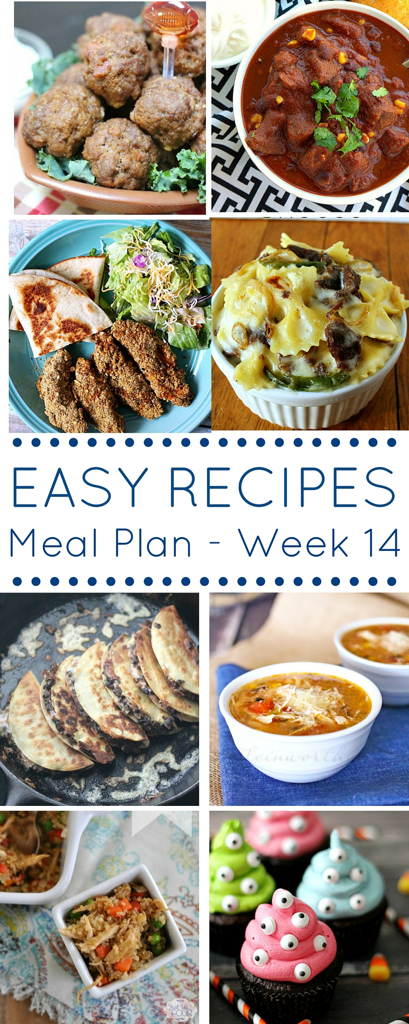 Easy Recipes Meal plan week 14 - delicious dinners and a spooky dessert!