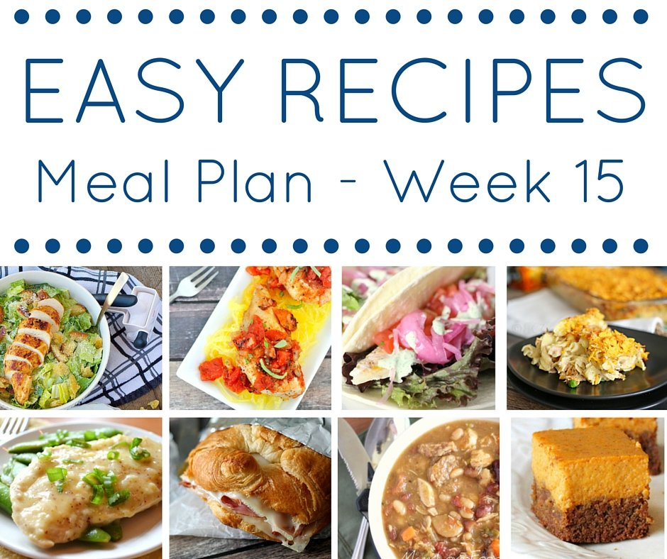Easy Recipes Meal plan week 15 - delicious dinners and a spooky dessert!