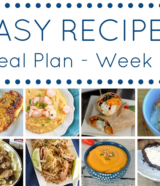 Easy Dinner Recipes Meal Plan – Week 16