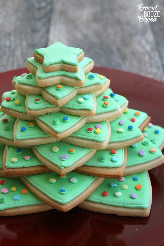 Christmas Cookie Tree by Bread Booze Bacon