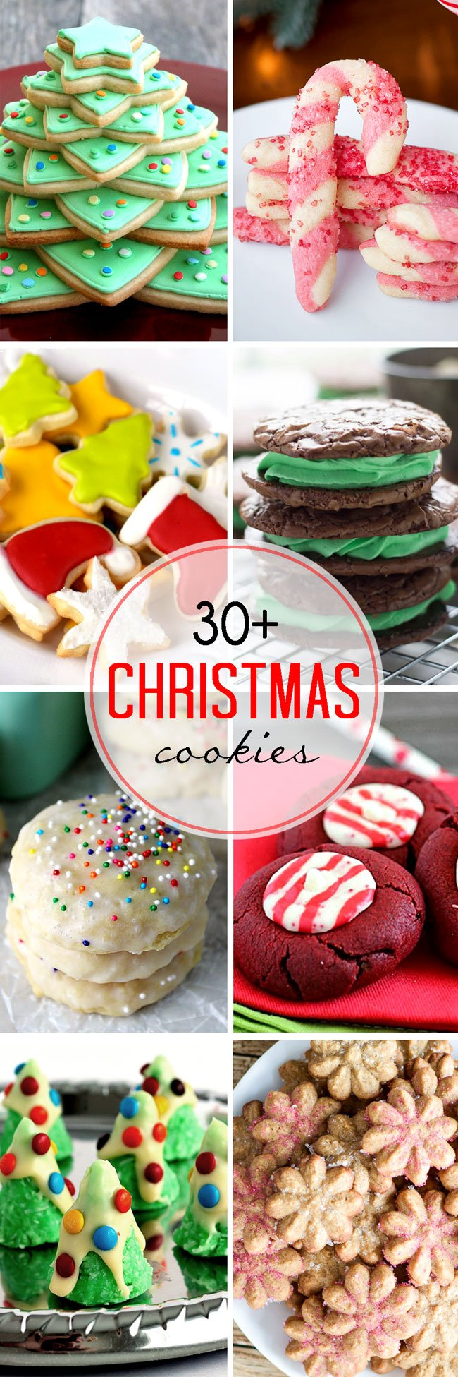 30+ Christmas Cookies - over 30 amazingly delicious holiday cookie recipes!
