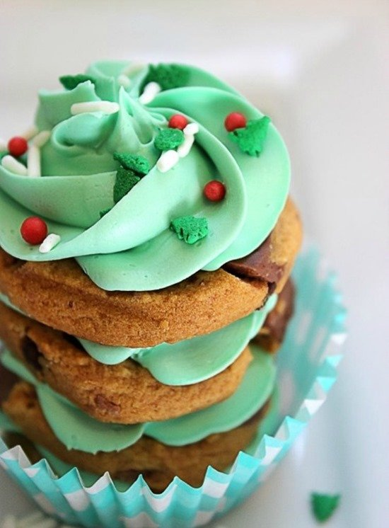 Christmas Tree Cookie Stacks by Big Bear's Wife