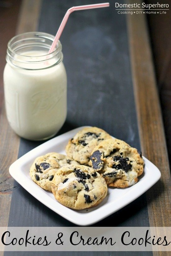 Cookies & Cream Cookies by Domestic Superhero