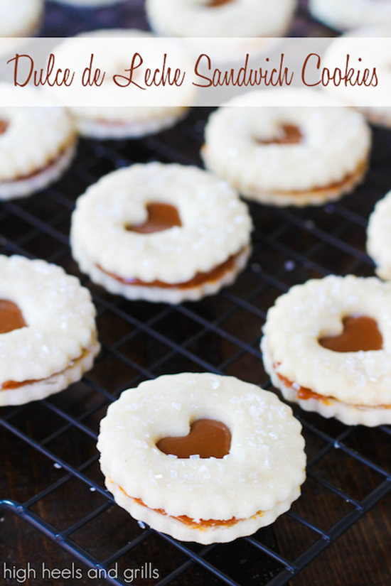Dulce de Leche Sandwich Cookies by High Heels and Grills