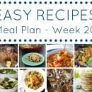 Easy Dinner Recipes Meal Plan – Week 20