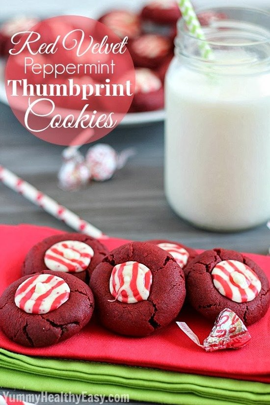 Red Velvet Thumbprint Cookies by Yummy Healthy Easy