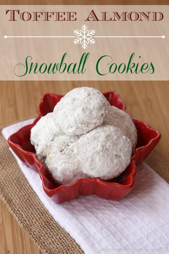 Toffee Almond Snowball Cookies by Cupcakes & Kale Chips