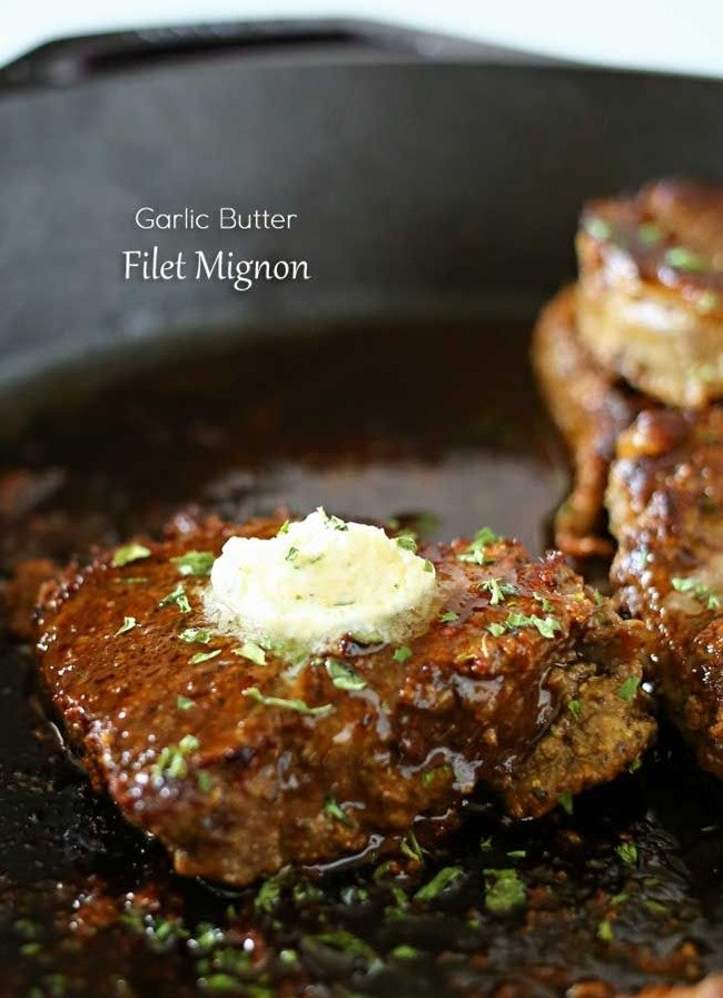 Garlic Butter Filet Mignon by Kleinworth & Co.