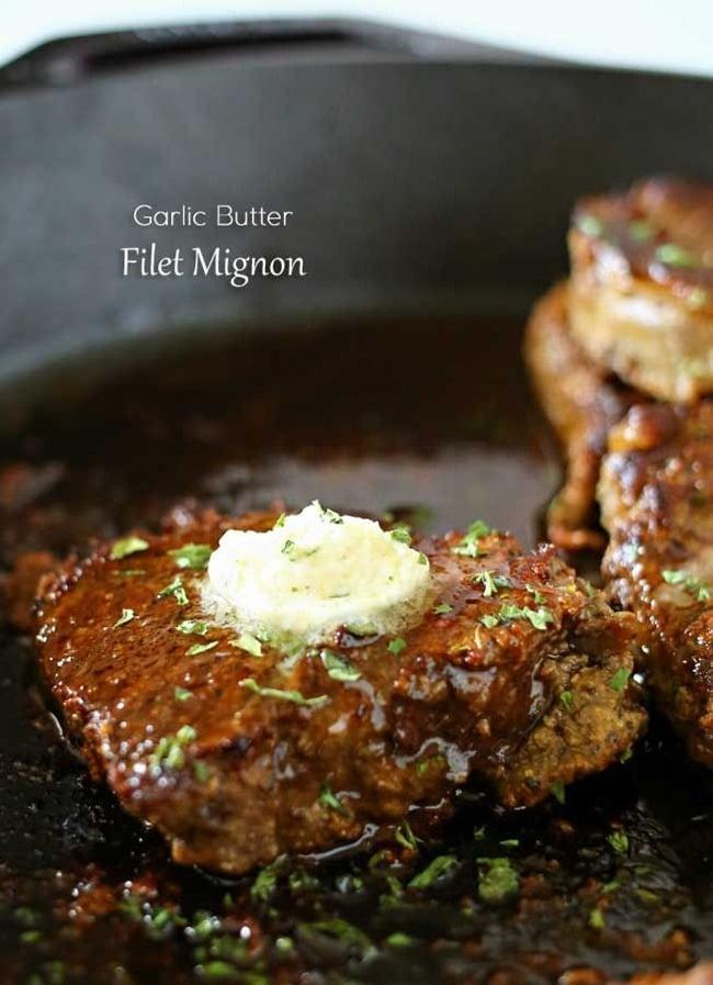 Garlic Butter Filet Mignon by Kleinworth & Co.
