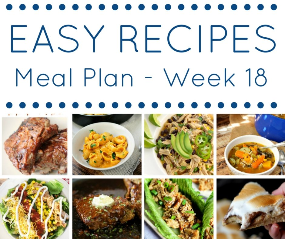 Easy dinner recipes meal plan week 18 domestic superhero easy recipes meal plan has 7 weeknight dinners for you and one delicious dessert forumfinder Gallery