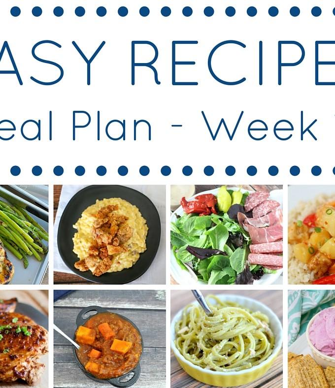 Easy Dinner Recipes Meal Plan – Week 19