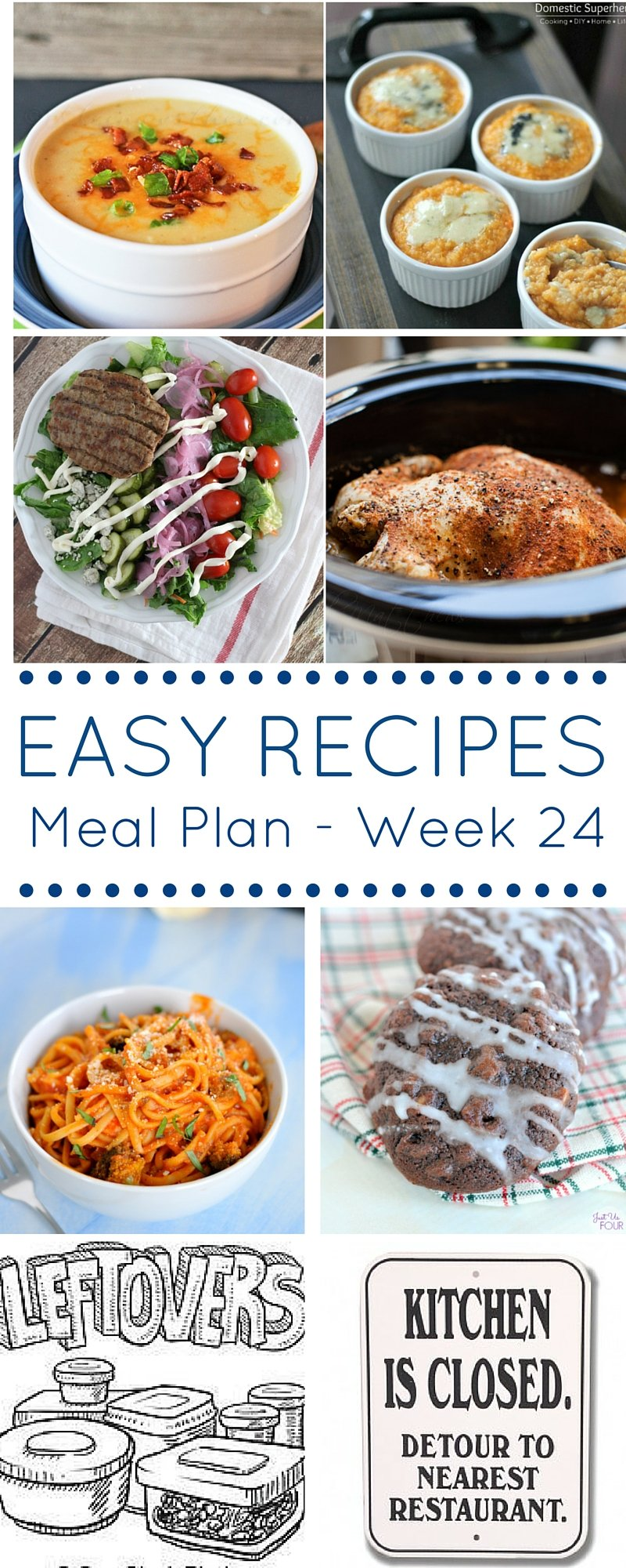 Meal Plan Week 24 Pinterest